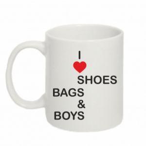 Kubek 330ml I love shoes, bags, boys