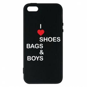 Etui na iPhone 5/5S/SE I love shoes, bags, boys