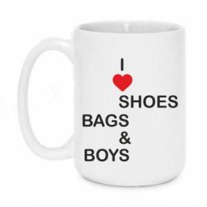 Kubek 450ml I love shoes, bags, boys