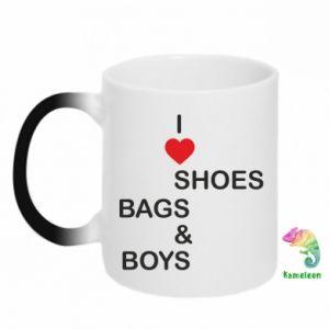 Kubek-kameleon I love shoes, bags, boys