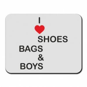 Podkładka pod mysz I love shoes, bags, boys