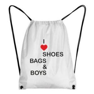 Plecak-worek I love shoes, bags, boys
