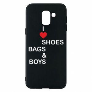 Etui na Samsung J6 I love shoes, bags, boys