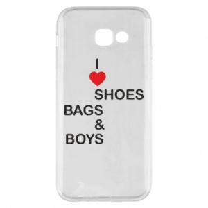 Etui na Samsung A5 2017 I love shoes, bags, boys