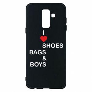 Etui na Samsung A6+ 2018 I love shoes, bags, boys