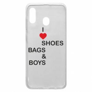 Etui na Samsung A20 I love shoes, bags, boys