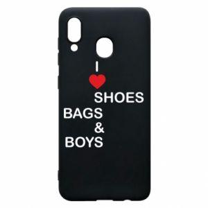 Etui na Samsung A30 I love shoes, bags, boys