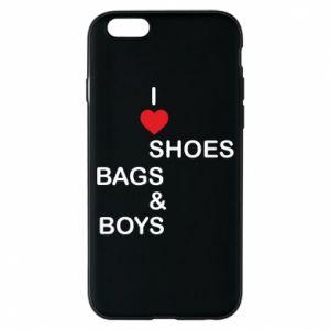 Etui na iPhone 6/6S I love shoes, bags, boys