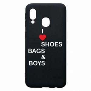 Etui na Samsung A40 I love shoes, bags, boys