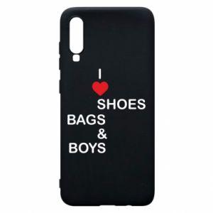 Etui na Samsung A70 I love shoes, bags, boys