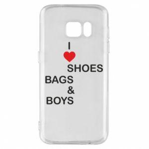 Etui na Samsung S7 I love shoes, bags, boys
