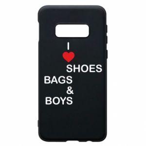 Etui na Samsung S10e I love shoes, bags, boys