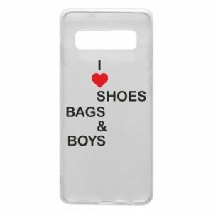 Etui na Samsung S10 I love shoes, bags, boys