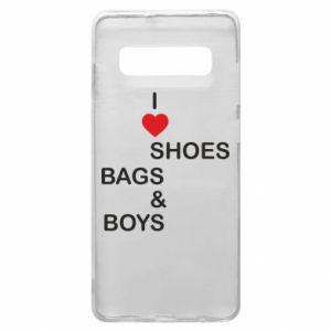 Etui na Samsung S10+ I love shoes, bags, boys