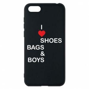 Etui na Huawei Y5 2018 I love shoes, bags, boys
