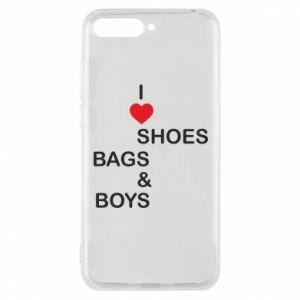 Etui na Huawei Y6 2018 I love shoes, bags, boys