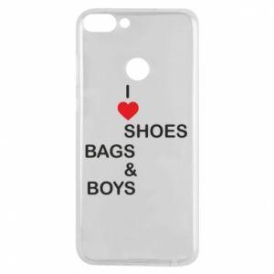 Etui na Huawei P Smart I love shoes, bags, boys