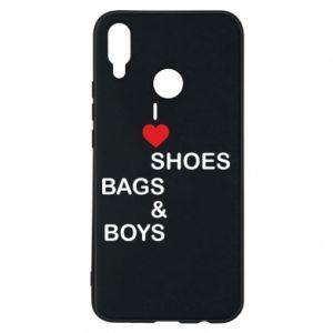 Etui na Huawei P Smart Plus I love shoes, bags, boys