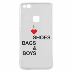Etui na Huawei P10 Lite I love shoes, bags, boys