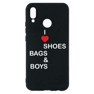 Etui na Huawei P20 Lite I love shoes, bags, boys