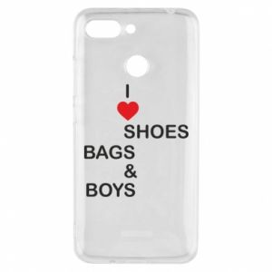 Etui na Xiaomi Redmi 6 I love shoes, bags, boys