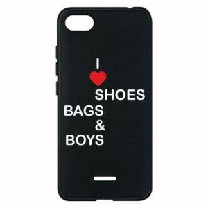 Etui na Xiaomi Redmi 6A I love shoes, bags, boys