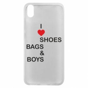 Etui na Xiaomi Redmi 7A I love shoes, bags, boys
