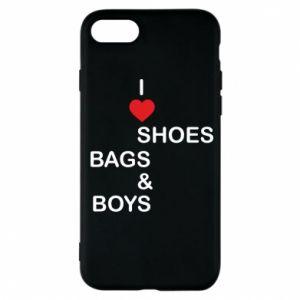 Etui na iPhone 7 I love shoes, bags, boys