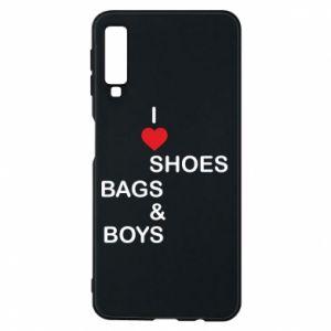 Etui na Samsung A7 2018 I love shoes, bags, boys