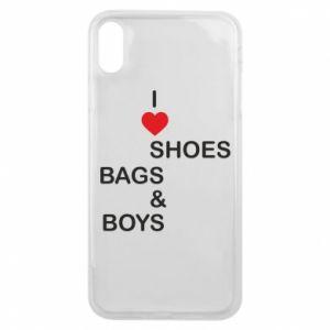 Etui na iPhone Xs Max I love shoes, bags, boys