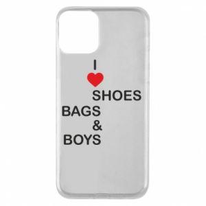 Etui na iPhone 11 I love shoes, bags, boys