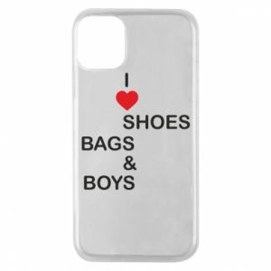 Etui na iPhone 11 Pro I love shoes, bags, boys