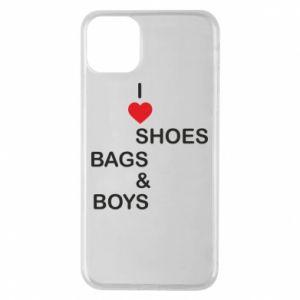 Etui na iPhone 11 Pro Max I love shoes, bags, boys