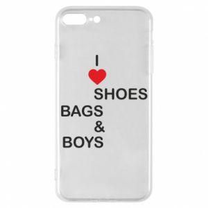 Etui na iPhone 7 Plus I love shoes, bags, boys