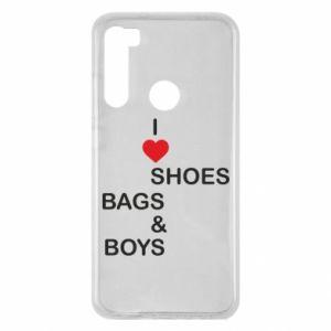Etui na Xiaomi Redmi Note 8 I love shoes, bags, boys