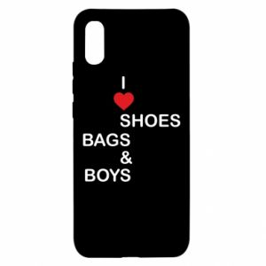 Etui na Xiaomi Redmi 9a I love shoes, bags, boys