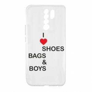 Etui na Xiaomi Redmi 9 I love shoes, bags, boys