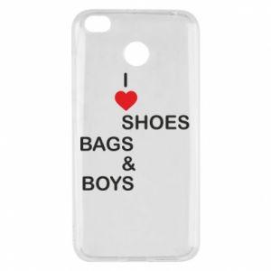 Etui na Xiaomi Redmi 4X I love shoes, bags, boys