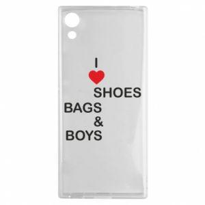 Etui na Sony Xperia XA1 I love shoes, bags, boys