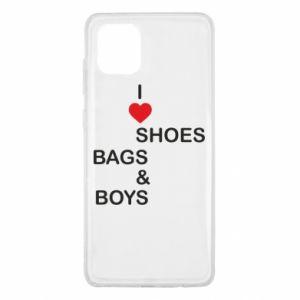 Etui na Samsung Note 10 Lite I love shoes, bags, boys