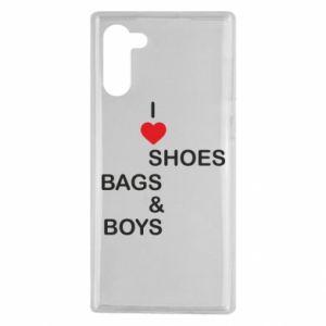 Etui na Samsung Note 10 I love shoes, bags, boys