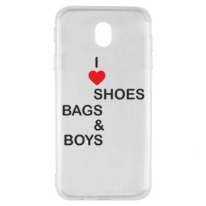 Etui na Samsung J7 2017 I love shoes, bags, boys