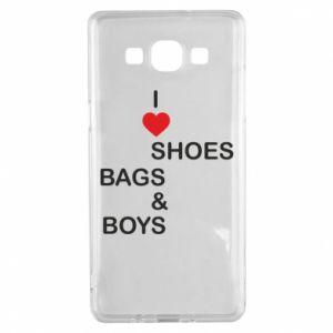 Etui na Samsung A5 2015 I love shoes, bags, boys