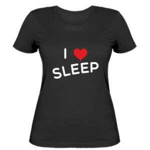 Damska koszulka I love sleep