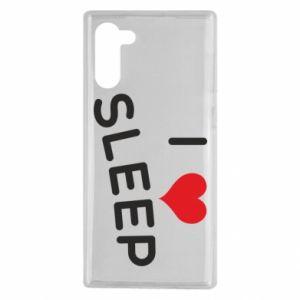 Etui na Samsung Note 10 I love sleep