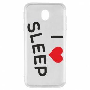 Etui na Samsung J7 2017 I love sleep