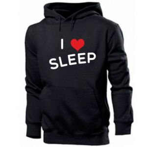 Męska bluza z kapturem I love sleep