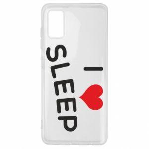 Etui na Samsung A41 I love sleep