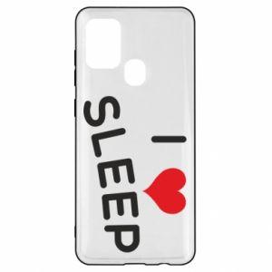 Etui na Samsung A21s I love sleep