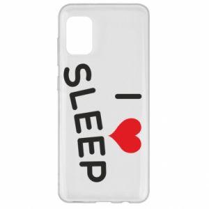 Etui na Samsung A31 I love sleep